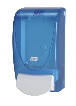 Deb Complementary Range Dispenser – Blue (white Deb logo)