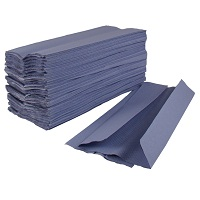 C-Fold Paper Hand Towels 1 ply Blue 2880