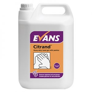 Evans Vanodine Citrand Lemon Mico Beaded Hand Cleaning Gel 2 x 5 ltr
