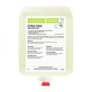 Evans Vanodine Citrus Foam Hand & Body Wash 6 x 1 ltr