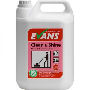 Evans Vanodine Clean & Shine Mop or Spray Floor Maintainer 5 ltr
