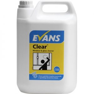 Evans Vanodine Clear Window Glass & Stainless Steel Cleaner 5 ltr