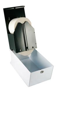 Synergise Corematic 2 Roll Toilet Tissue Dispenser White Metal
