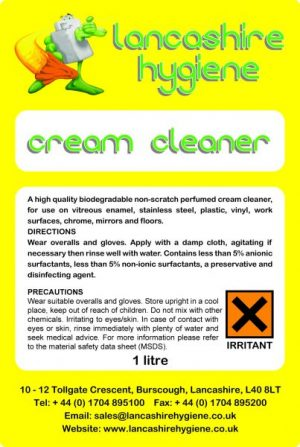 Lancashire Hygiene Lemon Cream Cleaner
