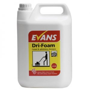 Evans Vanodine Dri-Foam Carpet & Upholstery Shampoo 5 ltr