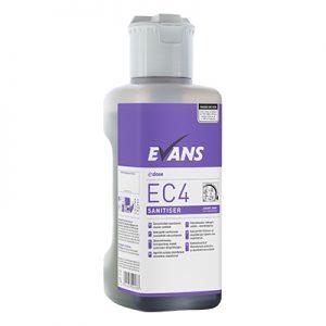 Evans Vanodine EC4 Super Concentrate Sanitiser 4 x 1 ltr