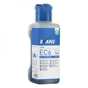 Evans Vanodine EC6 Super Concentrate All Purpose Hard Surface Cleaner 4 x 1 ltr