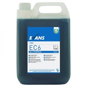 Evans Vanodine EC6 Super Concentrate All-Purpose Hard Surface Cleaner 5 ltr