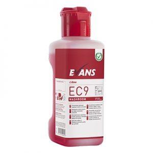 Evans Vanodine EC9 Super Concentrate Washroom Cleaner & Descaler 4 x 1 ltr