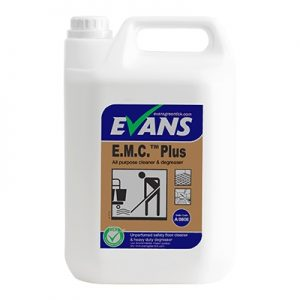 Evans Vanodine EMC Plus Safety Floor Cleaner & Degreaser 5 ltr