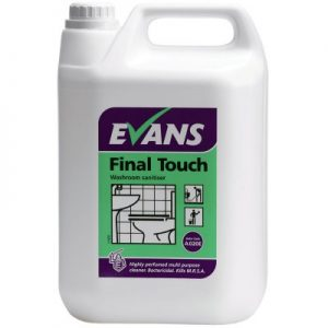 Evans Vanodine Final Touch EN1276 Bactericidal Neutral Sanitiser 5 ltr