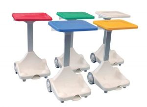 Free Standing Sackholder White with Green Lid