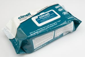 Clinell Universal Sanitising Wipes – 140 Wipes Maceratable Soft Pack