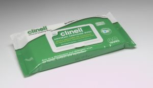 Clinell Universal Sanitising Wipes – 40 Wipes Soft Pack