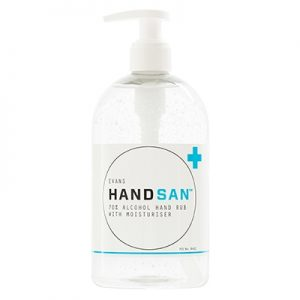 Evans Vanodine Handsan 70% Alcohol Hand Sanitiser with Moisturiser 6 x 500 ml