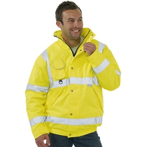 Hi-Vis Saturn Yellow Bomber Jacket Medium