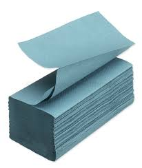 Interfold Hand Towel 1 ply Blue 5000