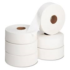 Jumbo Toilet Tissue 2 ply White 6 x 400m 3″ core