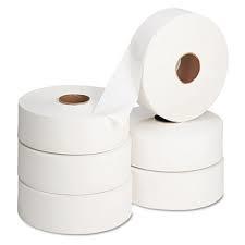 Jumbo Toilet Tissue 2 ply White 6 x 400m 3″ core