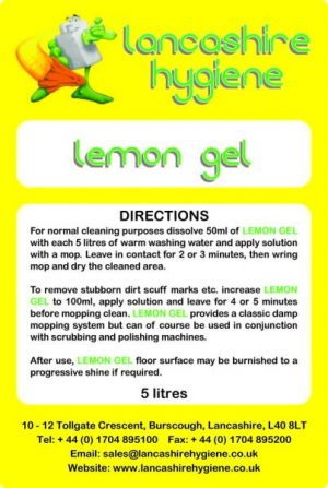 Lemon Gel Damp Mopping & Spray Cleaning 5 ltr