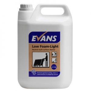 Evans Vanodine Low Foam Light Neutral Multi Surface Cleaner 5 ltr