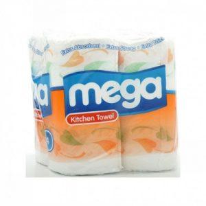 Mega kitchen Towel 2 ply Patterned 6 x 4 pack