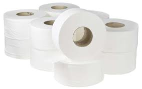 Mini Jumbo Toilet Tissue 2 ply White 12 x 200m 2.25″ Core