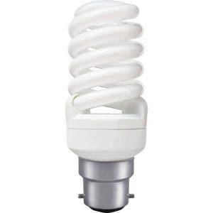 Mini Spiral Compact Fluorescent 7w BC
