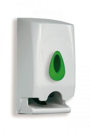 Modular Twin Roll Toilet Tissue Dispenser White Plastic