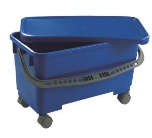 Mobile Window Cleaners Bucket with Lid Blue
