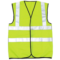 High Visibility EN 471 Sleeveless Double Band and Brace Waistcoat Large