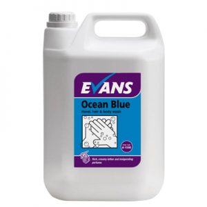 Evans Vanodine Ocean Blue Revitalising Hand Hair & Body Wash 5 ltr
