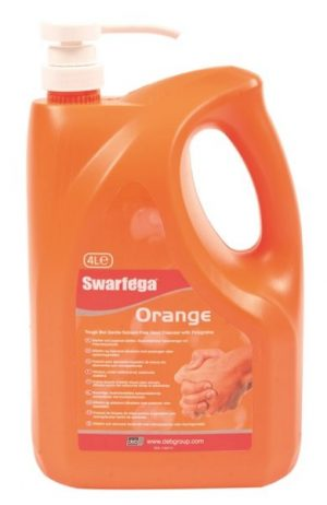 Swarfega Orange 4 x 4 litre Pump Top Bottle