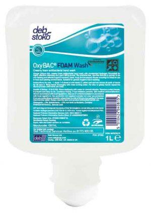 Deb OxyBAC FOAM Wash 6 x 1 ltr Cartridge