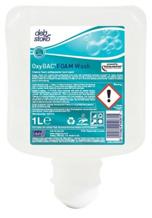 Deb OxyBAC 6 x 1 ltr Antimicrobial Rich-Cream Foam Hand Wash