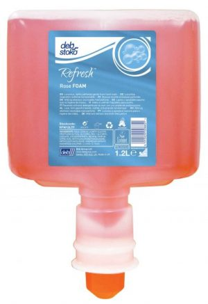 Deb Refresh Rose FOAM 3 x 1.2 ltr Cartridge for Touch Free Dispenser