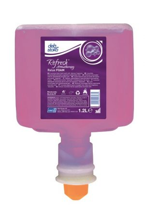 Deb Refresh Relax FOAM 3 x 1.2 ltr Cartridge for touch free Ultra