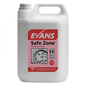 Evans Vanodine Safe Zone EN1276 Virucidal Disinfectant Unperfumed