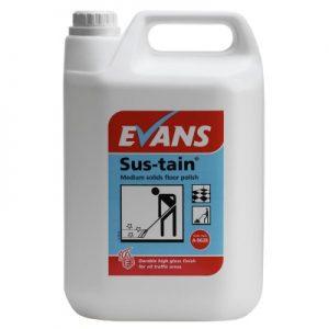 Evans Vanodine Sus-Tain Medium Solids Metalised Floor Polish 5 ltr