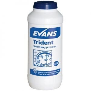 Evans Vanodine Trident Blue Sanitising Powder 12 x 500g
