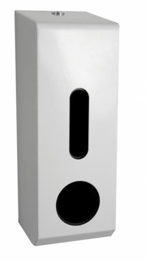 Synergise Triple Roll Toilet Tissue Dispenser White Metal