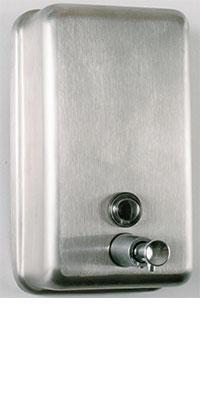 Synergise Vertical Bulk Fill Soap Dispenser Brushed Stainless 1 ltr