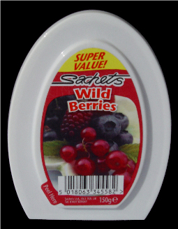 Sachets Wild Berries Solid Air Fresh 12 x 150g