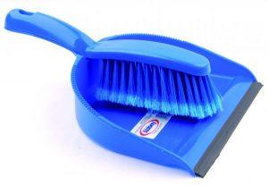 Professional Dustpan & Brush Set – Soft Blue | Red | Green | Yellow
