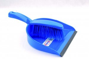 Professional Dustpan & Brush Set – Stiff Blue | Red | Green | Yellow