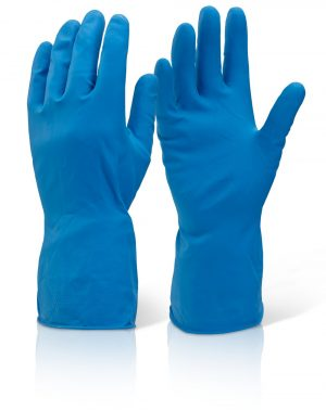 Household Flock Lined Rubber Gloves Pink | Blue | Green | Yellow
