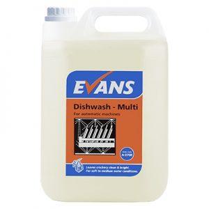 Evans Vanodine Dish Wash Multi Auto Dish Wash Liquid 5 ltr