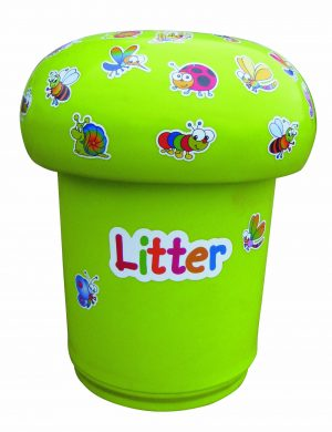 Mushroom Bin Primary Education Playground Classroom Lime