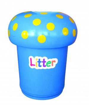 Mushroom Bin Primary Education Playground Classroom Blue