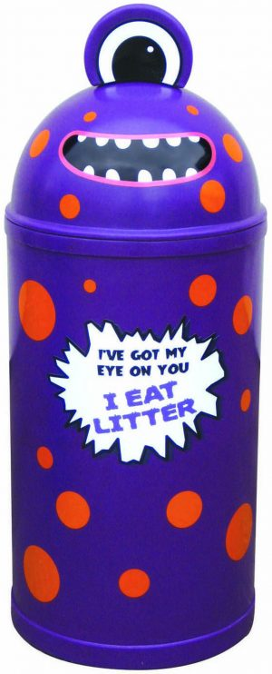 Monster Litter Bins Primary Education Playground Classroom Purple